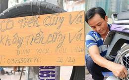 Anh chàng miền Tây hào sảng, ngủ vỉa hè Sài Gòn và tấm bảng vá xe 'không tiền cũng vá' cho khách lỡ đường giữa đêm khuya