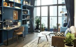 Căn hộ 90m² đẹp hiện đại với điểm nhấn màu xanh rất nam tính, có chi phí thi công 280 triệu đồng ở Hà Nội