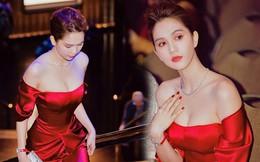 Ngọc Trinh lại gây 'sốt' với váy cắt xẻ sâu khoe vòng 1 gợi cảm