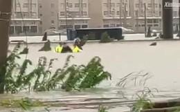 Trung Quốc: Hơn 1 triệu người sơ tán, đường phố ngập trong biển nước do siêu bão Lekima