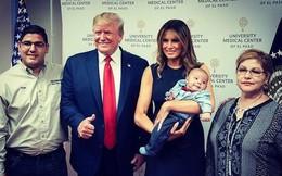 Vợ chồng Tổng thống Trump và bức ảnh gây tranh cãi