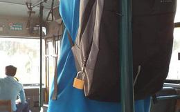 Vừa lên thành phố nhập học nghe đồn đi xe bus lắm móc túi, nam sinh dùng ổ khoá to chình ình khoá balo lại