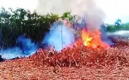 Khuôn viên trường bắn quân sự ở Huế bốc cháy dữ dội