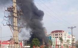 Cháy lớn tại siêu thị 90 K ở thành phố Bắc Giang