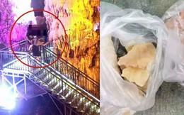 Du khách thản nhiên bẻ thạch nhũ hàng trăm triệu năm về làm quà kỷ niệm khi tham quan hang động