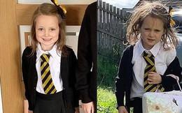 Ai nói ngày đầu tiên đi học chỉ có chơi nhiều học ít, nhìn cô bé 5 tuổi này bố mẹ sẽ hiểu đến trường cũng cực kỳ vất vả
