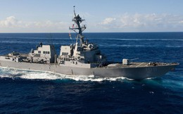 Tàu chiến Mỹ áp sát đá Vành Khăn và đá Chữ Thập, thách thức TQ
