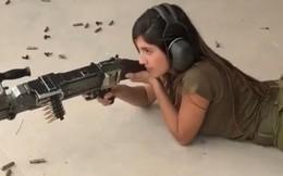 Video: Nữ quân nhân xinh đẹp điểm xạ tiểu liên và súng máy