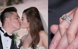 """Mỹ nhân """"Lan Quế Phường"""" khoe ngực căng đầy bên chồng đại gia trong hôn lễ, nhẫn kim cương khủng chiếm trọn spotlight"""