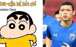 Khoe kiểu tóc như nhân vật hoạt hình, sao trẻ từng 'đấm' Đình Trọng gây sốt ở buổi tập của tuyển Thái Lan