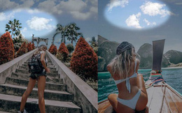 Hotgirl Instagram bị phát hiện ghép mây giống hệt nhau vào ảnh du lịch quanh Thế giới