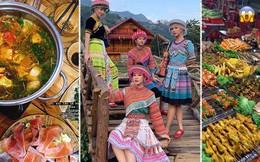 """Có hội chị em """"hợp cạ"""" ăn uống khi đi du lịch như Chi Pu - Quỳnh Anh Shyn - Sun HT thì còn gì bằng, ăn """"bất chấp"""" tăng cân luôn!"""