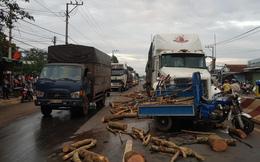 Mất lái trước đầu xe container, tài xế ba gác chết thảm