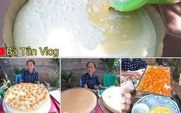 Giỏi như bà Tân Vlog: Bột trộn lõng bõng mà vẫn nướng được cốt bánh căng đét, dân làm bánh đành ngả mũ chịu thua
