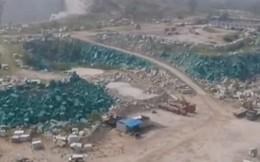 Công ty Trung Quốc sơn xanh đá 'ngụy trang' thành cây lừa thanh tra môi trường