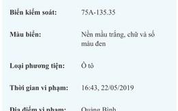 CSGT làm rõ bất minh cấp biển số 'VIP' cho xe Lexus ở Huế
