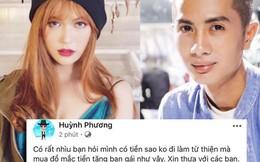 """Bị nói vung tiền mua hàng hiệu tặng Sĩ Thanh, Huỳnh Phương đáp trả cực gắt: """"Sống sao cho vừa lòng các bạn"""""""
