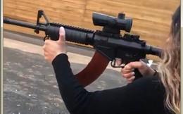 Video: Súng AK lai M16 nổ đanh thép trong tay nữ nhân viên Israel