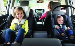 Đâu là vị trí ngồi an toàn nhất trên xe ô tô dành cho trẻ em?