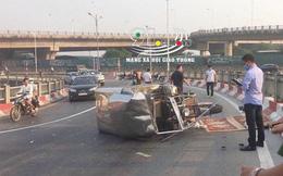 Hà Nội: Xe ba gác bị lật khi vào cua, tài xế 27 tuổi tử vong thương tâm