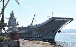 [ẢNH] Dấu hiệu Nga từ bỏ nâng cấp tàu sân bay Đô đốc Kuznetsov
