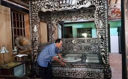 Độc đáo chiếc giường cổ có giá bạc tỷ ở Đồng Tháp