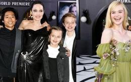 Thảm đỏ 'Maleficent 2': 5 người con lớn phổng phao bên Angelina Jolie, Elle Fanning lộng lẫy như công chúa