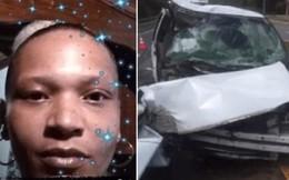 Bà mẹ gây phẫn nộ khi bảo 4 đứa con tháo dây an toàn rồi lái xe lao thẳng vào gốc cây mặc kệ con cầu xin