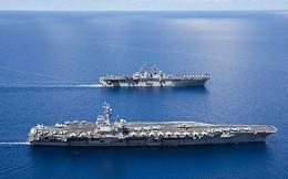 """Hải quân Mỹ """"bật mí"""" về dàn chiến hạm, máy bay mới tập trận ở Biển Đông"""