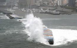 Những hình ảnh thể hiện sức tàn phá kinh khủng của siêu bão Hagibis khi nó còn chưa chính thức đổ bộ vào Nhật Bản