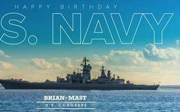Nghị sĩ Mỹ lấy ảnh chiến hạm Nga chúc mừng sinh nhật Hải quân Mỹ
