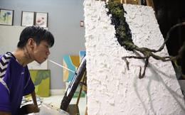 Chàng khuyết tật vẽ tranh bằng miệng truyền cảm hứng cho cộng đồng
