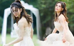 """""""Tiểu Long Nữ"""" Lý Nhược Đồng bất ngờ khoe ảnh váy cưới ở tuổi 46, lý do đằng sau khiến Cnet dở khóc dở cười"""