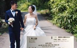 """Nhận thiệp mời của đôi dâu rể, nhiều người bủn run chân tay khi vừa nhìn qua, đọc xong nội dung còn """"toát mồ hôi"""" hơn nữa"""
