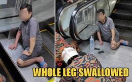 """Mang dép lê đi siêu thị, người đàn ông 49 tuổi bị thang cuốn """"nuốt chửng"""" chân phải"""