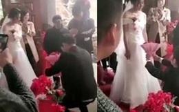 Chú rể quỳ xuống cầu hôn cô dâu ngay tại đám cưới, nữ chính mặt đơ như tượng chỉ vì một thứ trên tay đối phương