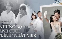 """Showbiz rần rần đón tin hỷ, ngắm lại loạt ảnh cưới cực đỉnh của dàn sao Việt mà chỉ muốn """"lên xe hoa"""" ngay và luôn"""