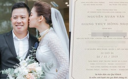 Chính thức lộ thiệp cưới cùng thông tin hôn lễ của Giang Hồng Ngọc: Trùng ngày cưới với Bảo Thy, không phục vụ trẻ em tại buổi tiệc