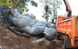 Đi cắt băng khánh thành tượng Phật, trưởng thôn thiệt mạng vì bị pho tượng cao 5m đổ ập xuống người