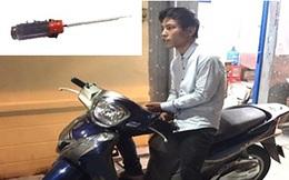 Dùng tuốc nơ vít cướp xe SH ở Tân Bình