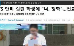 Đài truyền hình lớn của Hàn Quốc đưa tin vụ nam sinh Việt lập page anti BTS bị nhà trường đình chỉ học, bắt xin lỗi công khai