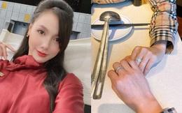 Giữa tin đồn chia tay Chí Nhân, MC Minh Hà hạnh phúc khoe ảnh tình tứ với 'chỗ dựa', đáng chú ý là cặp nhẫn kim cương