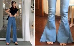 Khách mua hàng online order quần jeans ống suông lại được ship cho quần loe như chân vịt: Nhìn mà giận tím người luôn á!