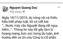 """Xử lý người tung tin """"nước máy cầu Nguyệt đang rất nguy hiểm"""" trên mạng xã hội"""