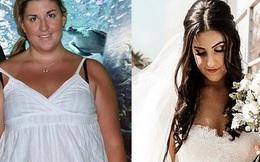 Tăng cân không kiểm soát suốt gần 1 thập kỷ, cô gái quyết tâm giảm liền 55 kg để mặc vừa chiếc váy cưới trong ngày trọng đại