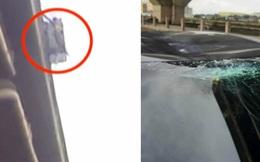 Vật thể lạ rơi giữa không trung gây tai nạn bất ngờ trên đường cao tốc, ai cũng sốc khi biết đó là gì