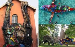 Những tác phẩm nghệ thuật tuyệt mỹ được tạo ra từ rác thải khiến ai xem xong cũng phải trầm trồ và suy ngẫm