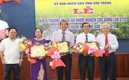 Sóc Trăng khen thưởng 'cha đẻ' giống gạo Việt ngon nhất thế giới 2019