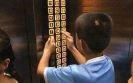 Con nghịch ngợm bấm hết các nút trong thang máy khiến mọi người tức giận, mẹ nói 1 câu khiến ai cũng dịu lại, còn động viên ngược đứa trẻ