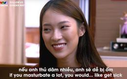 Khánh Vy gây tranh cãi khi nói về thủ dâm trong chương trình dạy tiếng Anh của VTV7, ekip chương trình nói gì?